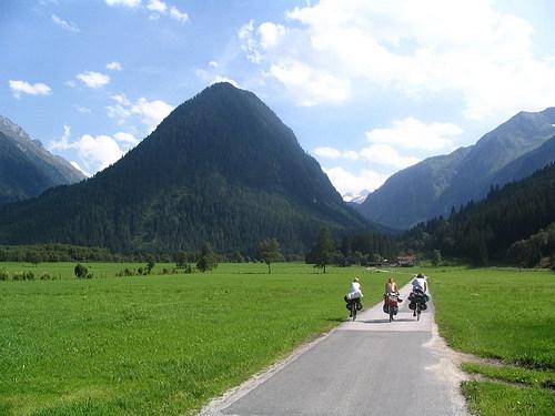 Na kole v srdci Rakouských Alp